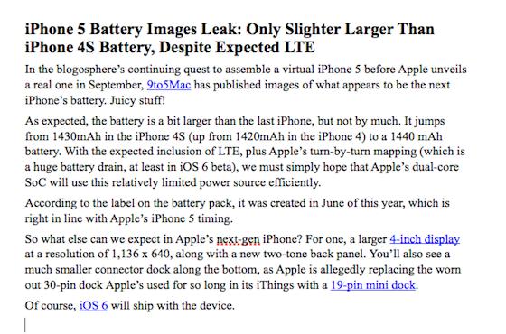 iPhone 5 Flash doc