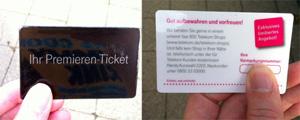 iPhone 5 Premier Ticket