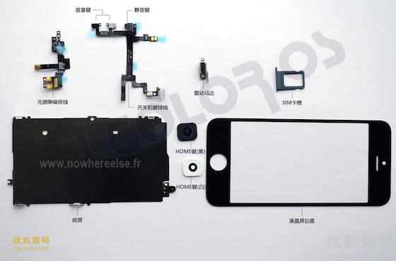 Onderdelen iPhone 5 achterkant