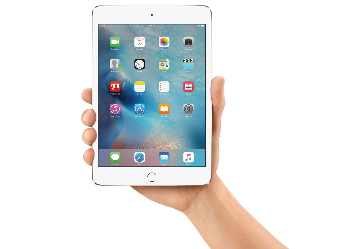 iPad mini 4 in de hand