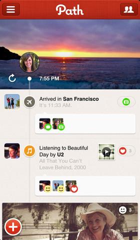 Mooiste iPhone 5 apps Path