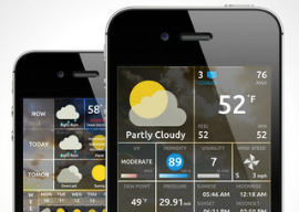Weather On iPhone iPod touch iPhone 5 weer-app