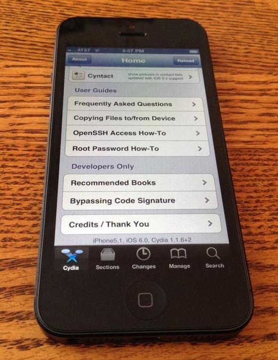 Cydia op de iPhone 5