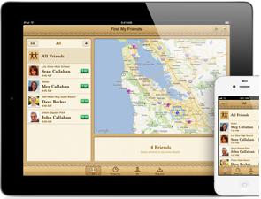 Zoek mijn vrienden grote iOS 6 updates