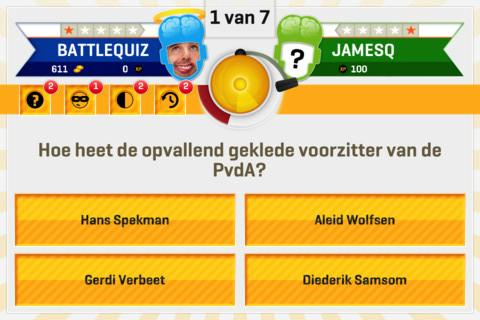 BattleQuiz Nederlandse online quiz iPhone