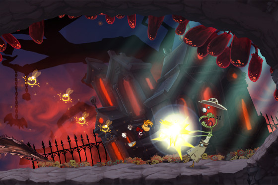 Rayman Jungle Run donkere grot