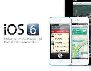 iOS 6 banner