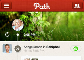 Path sociaal netwerk iPhone iPod touch offline