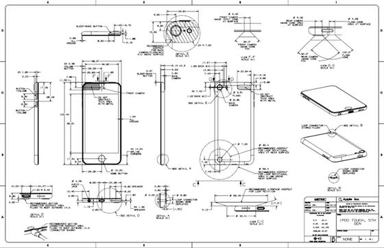 iPod touch schematische tekening