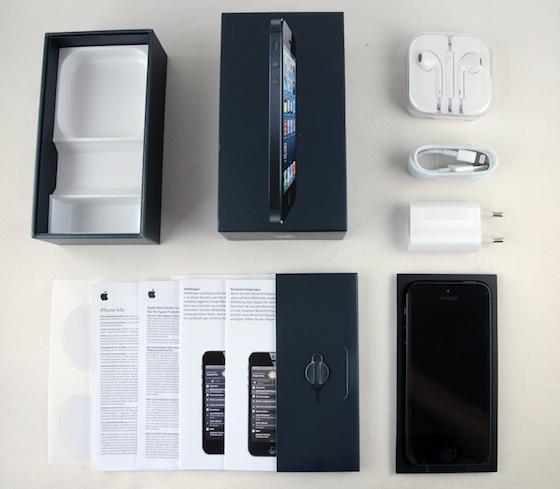 iPhone 5 box uitgepakt