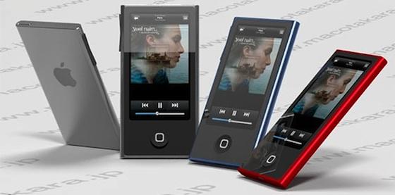 ipod nano rendering nieuw 2012