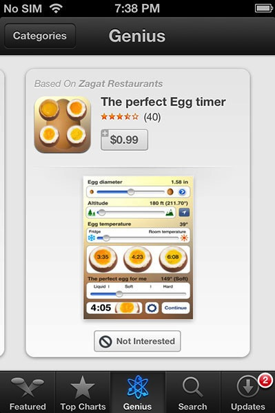 Genius App Store iOS 6