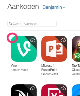 Apps verbergen in iTunes.