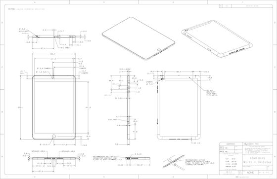 iPad mini schematische tekening