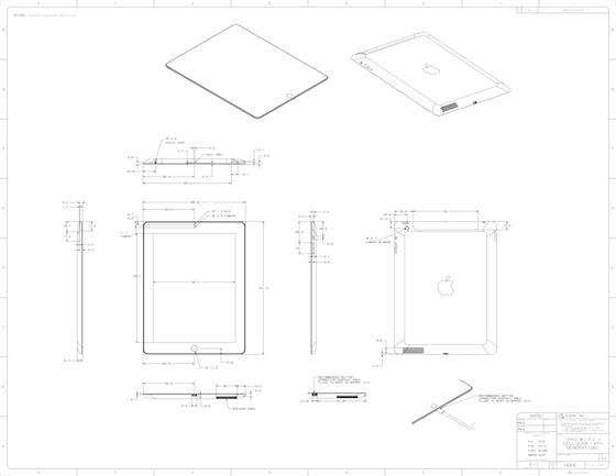 iPad vierde generatie schematische tekening