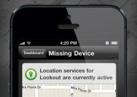 Lookout locatie bij kwijtgeraakte iPhone