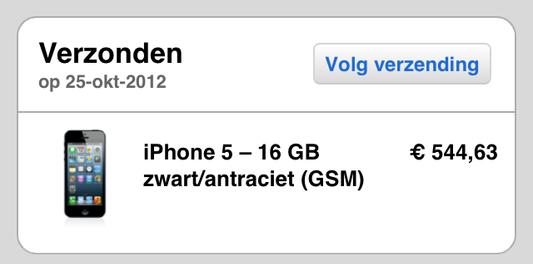 Uitlevering iPhone 5 verloopt volgens schema