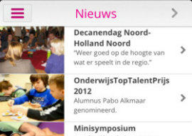 Inholland iPhone iPod touch rooster-app
