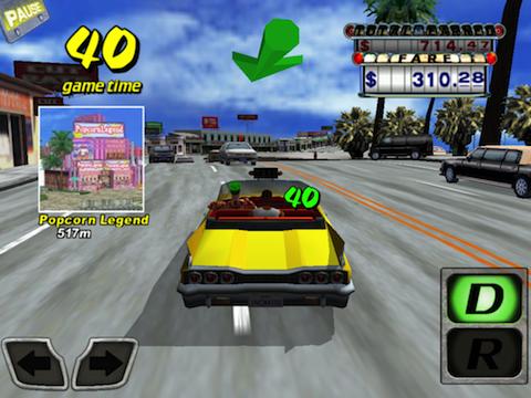 Crazy Taxi tegen het verkeer in screenshot