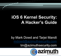 Hack In The Box - iOS 6 Security