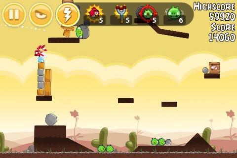 Angry Birds nieuwe resolutie screenshot