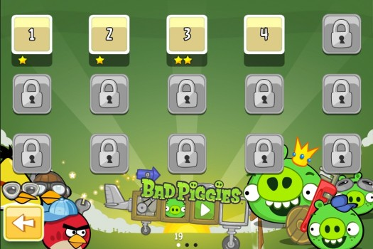 Angry Birds Bad Piggies menu