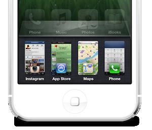 iPhone 5 multitask concept