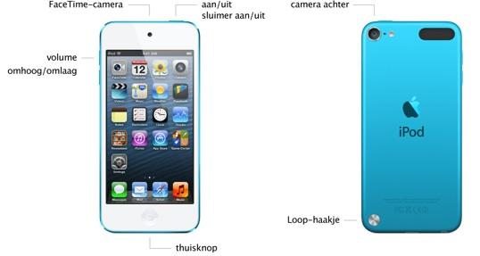 ipod touch 2012 onderdelen