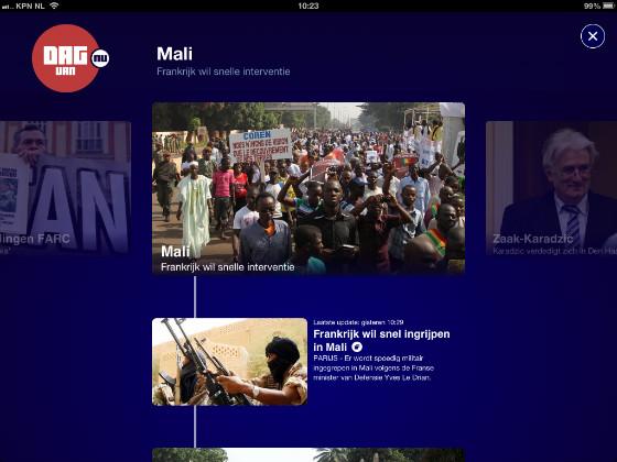 NU.nl iPad-app Dag van NU nieuwe feature