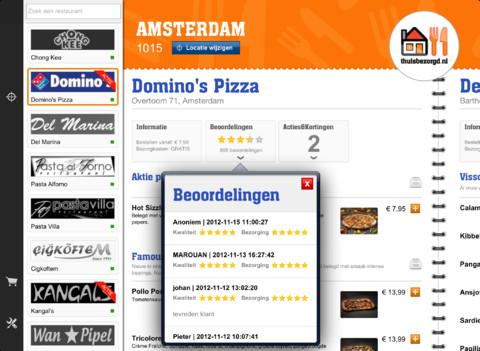 Thuisbezorgd.nl iPad app header