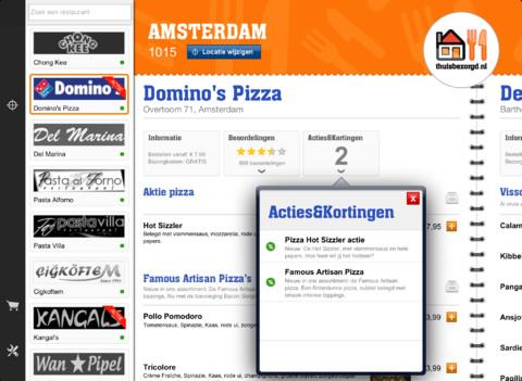 Thuisbezorgd.nl acties en kortingen
