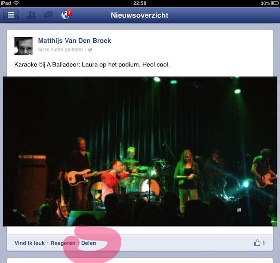 facebook delen