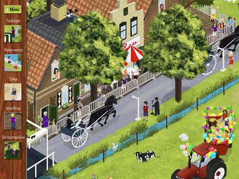 Speurplaat zomer met paardrijden