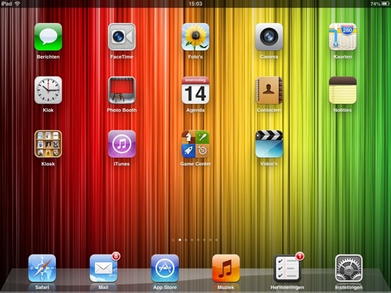 ipad mini homescreen