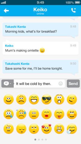 Skype nieuw emoticons