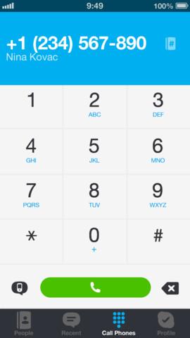 Skype nummer bewerken