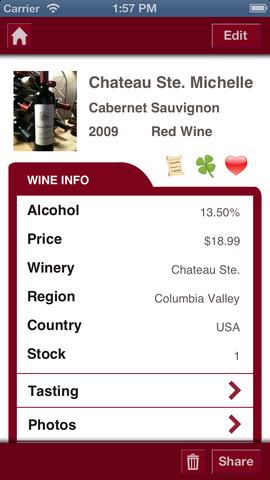 Wine Journal statistieken wijn