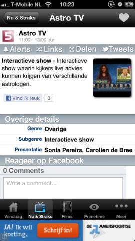 TVGids.tv reageren via Facebook