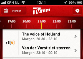TVFilm tv-gids app iPhone iPod touch