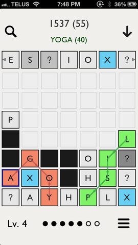 GU MA Seven Minimalistic Word Game iPhone