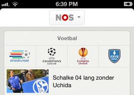 NOS iPhone-app livestanden voetbal