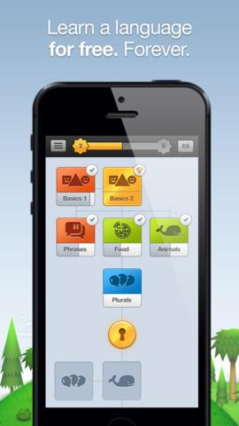 Duolingo taal leren boomstructuur