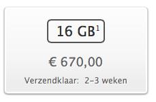 Levertijd iPhone 5 verbeterd naar 2-3 weken