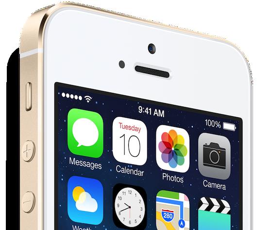 iPhone 5S bovenkant