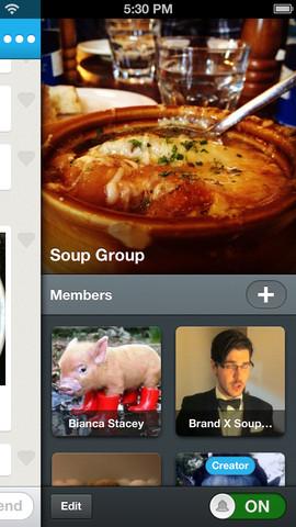 GroupMe foto van groep en leden