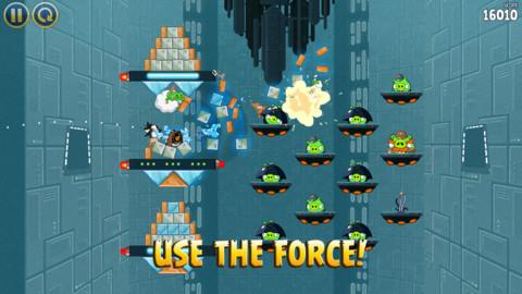 Angry Birds Star Wars force gebruiken