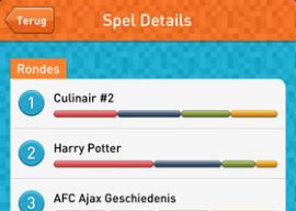 Kwizzle online quiz Nederlands op de iPhone