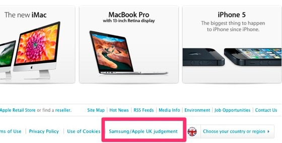 samsung apple uk website