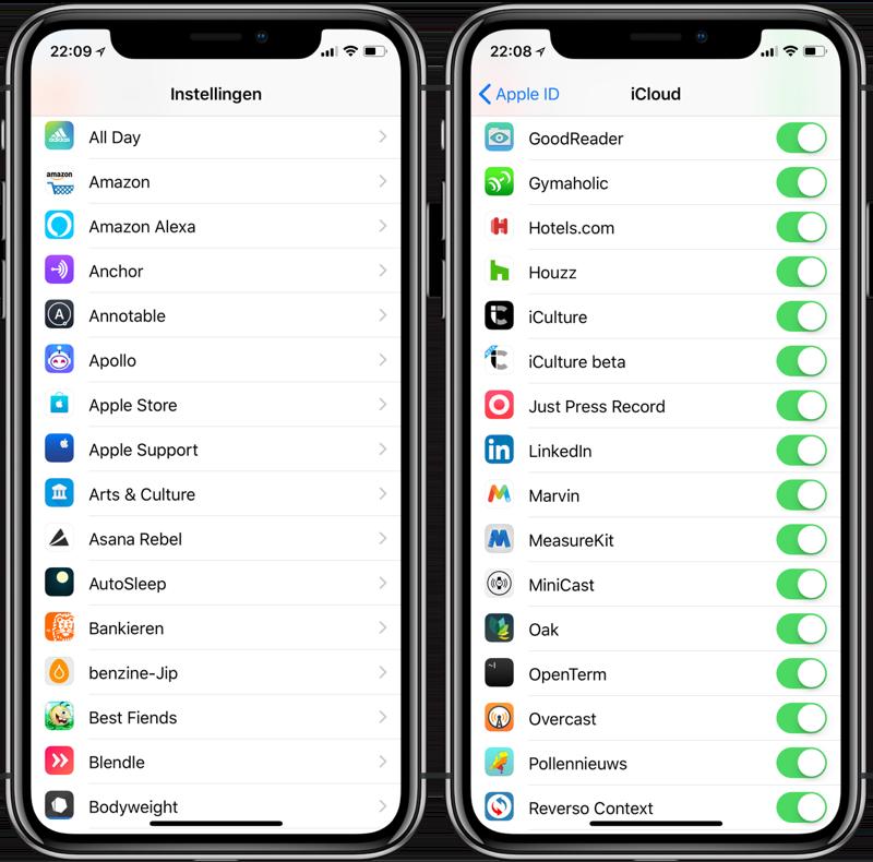 Geïnstalleerde apps bekijken op iPhone en iPad