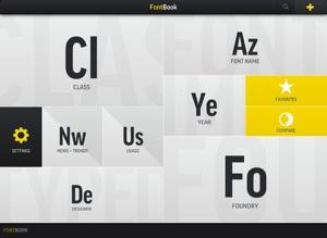 fontbook scherm